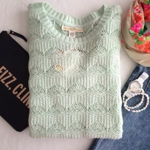 NWOT Love By Design Mint Tunic Sweater L
